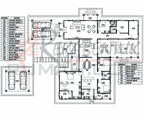 DESIGN RUMAH E1 17 6b 3ba 73 x114′ 4075 kaki persegi