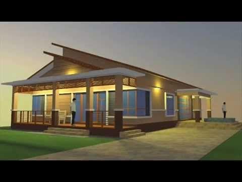 Pelan Rumah Kayu 2 Bilik Terbaik Cadangan Rekabentuk Pelan Banglo 1 Tingkat 3 Bilik & 3 Bilik Air