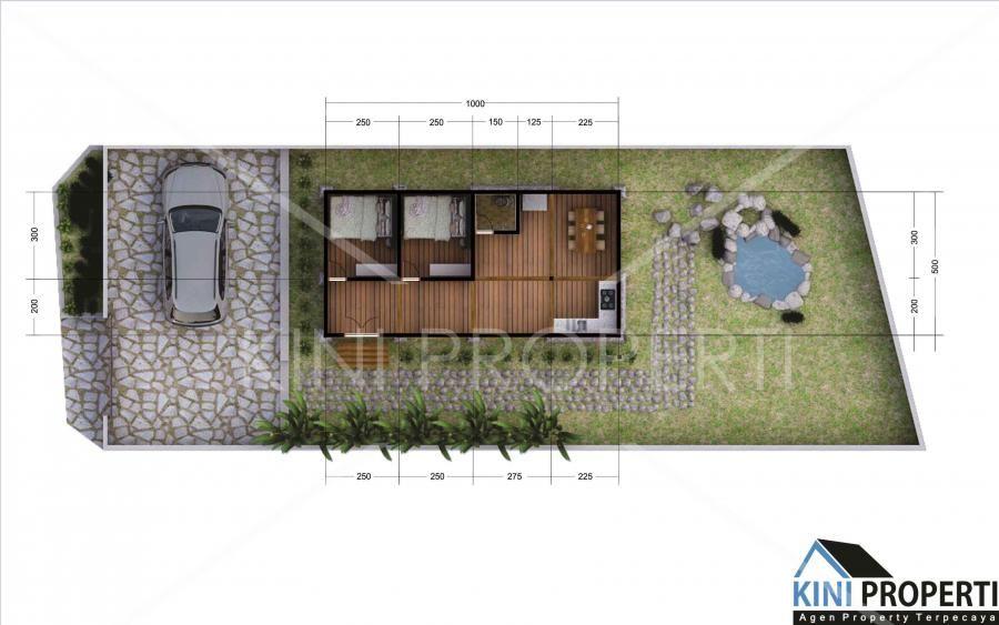 Pelan Rumah Kayu Kampung Terhebat Villa Dijual Rumah Kayu asri Tengah Kampung Yogyakarta