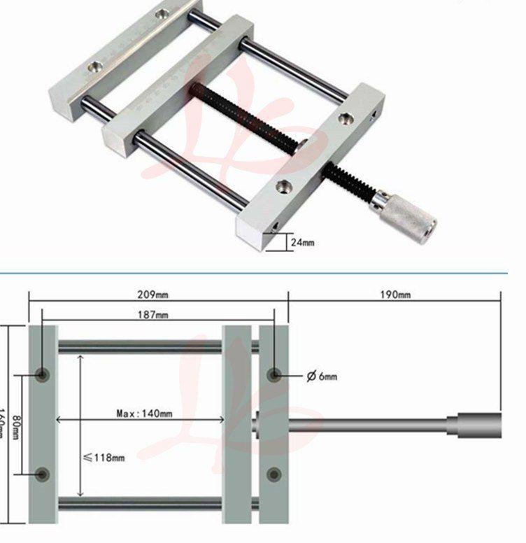 CNC Milling Mesin Kayu Router Precise Manual QGG Wakil Vise 187mm Polos Datar