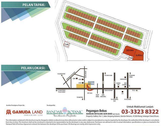 Pelan Rumah Kebun Bernilai Rumah Selangorku Bandar Botanic Laman Impian