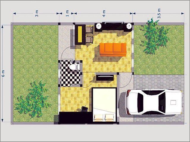 Pelan Rumah Kecil Hebat Desain Rumah Kecil Tipe 27 Nyaman Dalam Kesederhanaan