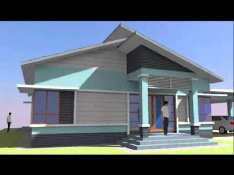 Pelan Rumah Kos Rendah 2 Bilik Penting Cadangan Rekabentuk Ke 2 Pelan Banglo 1 Tingkat & 4 Bilik 3 Bilik