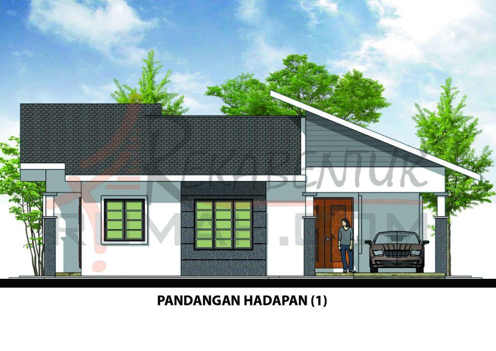 Pelan Rumah Kos Sederhana Rendah Meletup Design Rumah A1 07 3 Bilik 2 Bilik Air 40 X25 846 Kaki Persegi