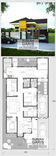 jasa desain tinggal 1 lantai milik Ibu Saskiah di Kab Bone SulSel