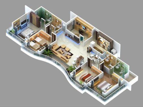 Desain Rumah Memanjang ke Belakang