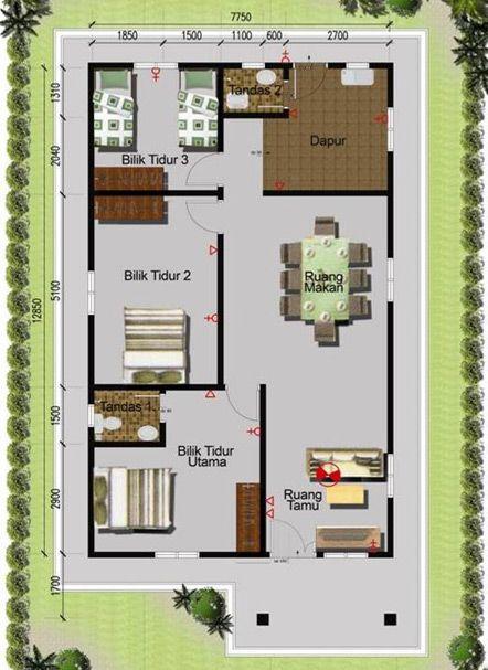 Rumah Banglo 1280 sqft