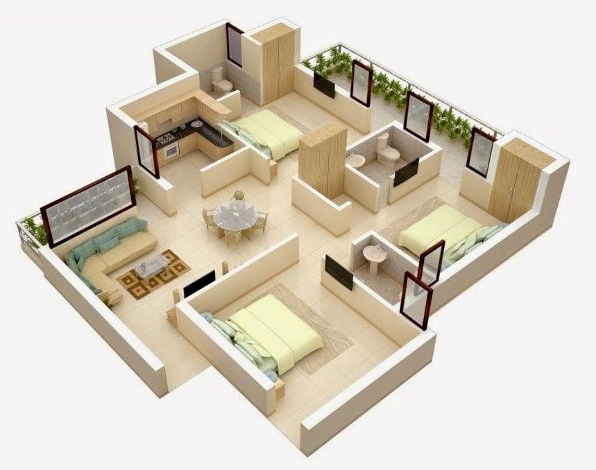 Pelan Rumah Minimalis Di Indon Meletup 17 Gambar Denah Rumah Minimalis Keluarga 3 Kamar Sejasa