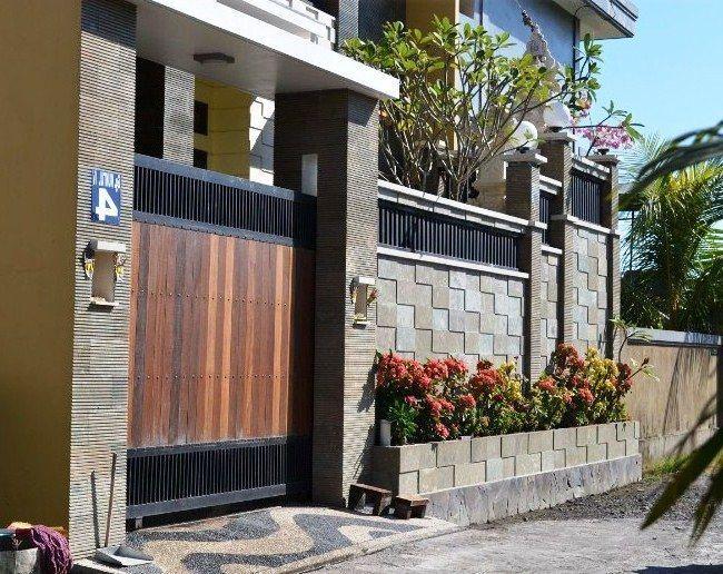 pelan rumah minimalis modern 1 lantai terbaik 33 model desain amp gambar pagar tembok rumah minimalis terbaru