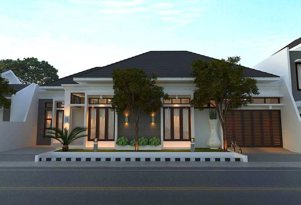 Pelan Rumah Moden Setingkat Power Model Rumah Minimalis Mewah Dengan Gaya Modern 1 Lantai Tampak Depan