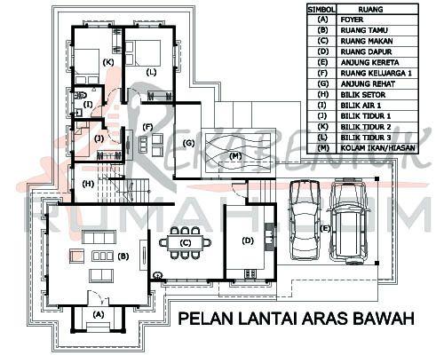 Pelan Rumah Moden Setingkat Terbaik Design Rumah D2 10 6 Bilik 3 Bilik Air 64 X59 2987 Kaki