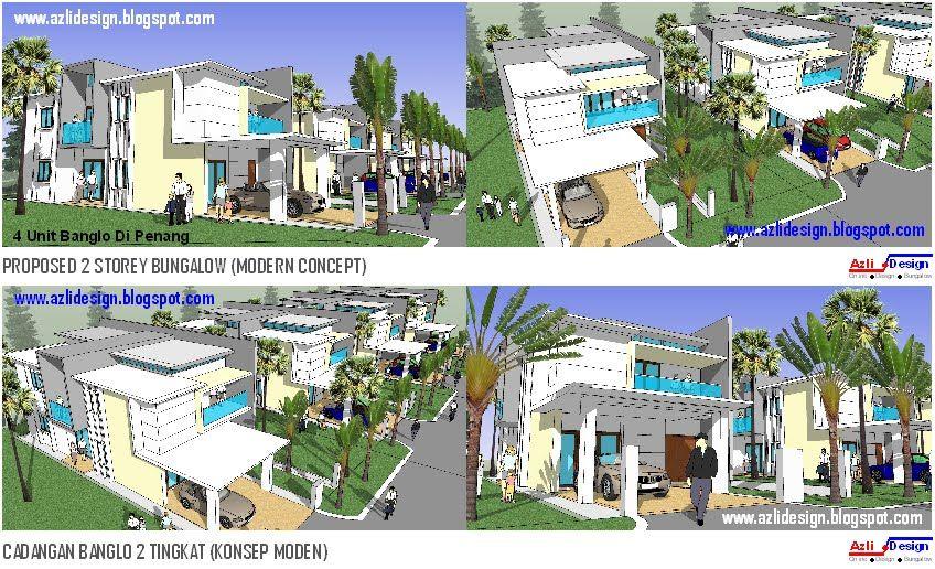Pelan Rumah Moden Tropika Penting Idea Rumah Idaman anda Idea Design Bungalow Pelan Rumah Banglo