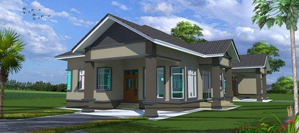 Pelan Rumah Moden Tropika Penting Rumah Banglo Murah Dan Mampu Milik Untuk Dijual Hanya Rm268k