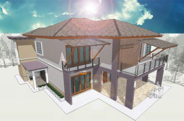 Pelan Rumah Modern 2 Tingkat Terhebat Koleksi Banglo 1 Tingkat