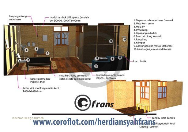 Attach Title format Miscellaneous Projects by Frans Herdiansyah at Coroflot Interior Design Rumah Attach