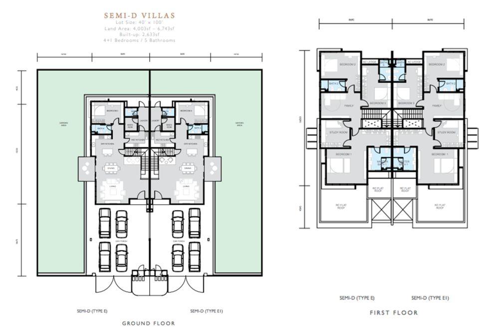 Hemingway Residences North Haven Coalfields Semi D Type E Floor Plan