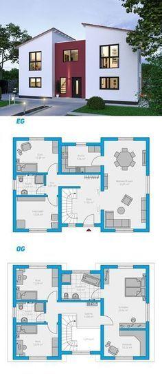 Illius 176 schlüsselfertiges Massivhaus 2 geschossig spektralhaus ingutenwänden 2geschossig Grundriss