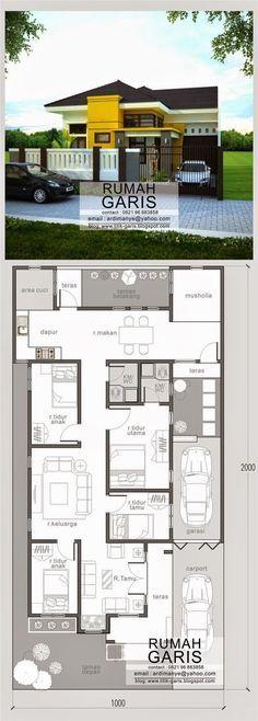 Design & denah House Layouts Design Rumah Modern House Plans Dream House