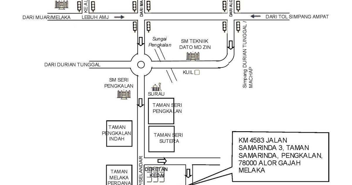 Pelan Rumah Pengantin Hebat H Peta Ke Rumah Kami Taman Samarinda