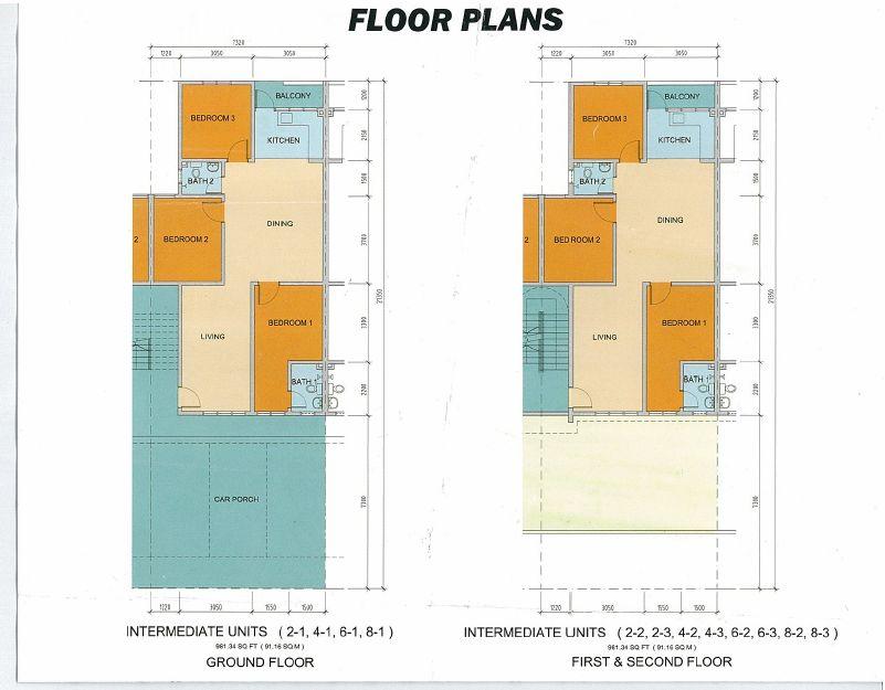 Maklumat yang diperolehi dari pelan lantai ialah dapat men ahui keluasan setiap bilik ruang tamu dan keluasan lantai dalam unit fit dan dapat gambaran