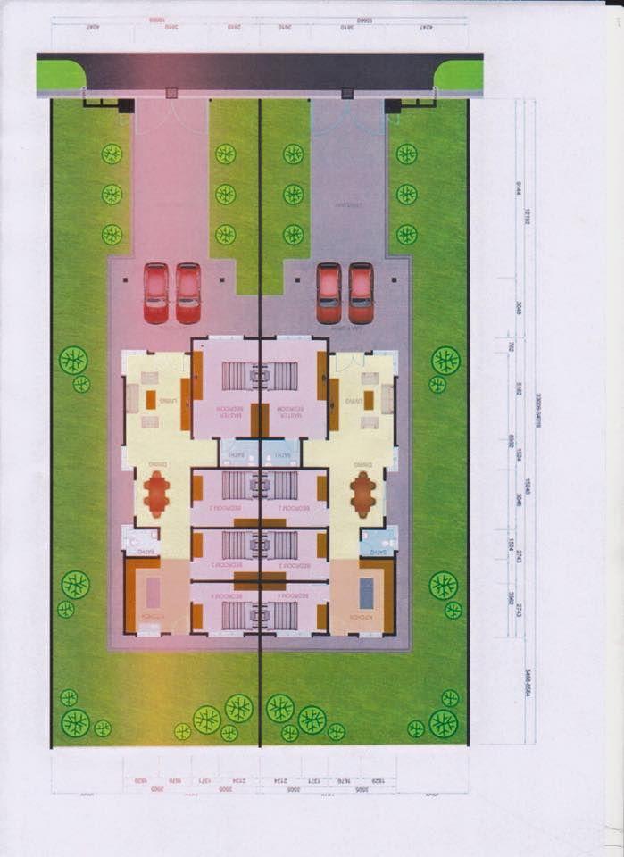 Ni layout tu RUMAH SEMI D TAMAN BENTARA TELUK PANGLIMA GARANG 30 UNIT LAND SIZE = 33X110 BUILD UP = 23X50 KELUASAN 338M2 4 BILIK 2 BILIK MANDI