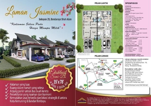Laman Jasmine Seksyen 29 Shah Alam Shah Alam Semi detached House 4 bedrooms for sale