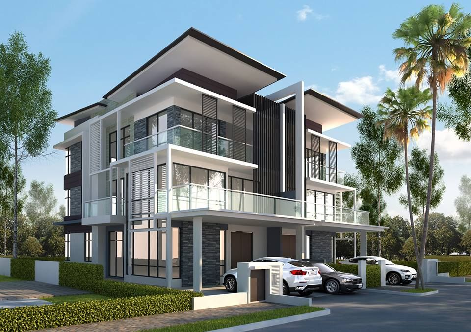 Pelan Rumah Semi D Moden Baik B11 Parkland Residence Cheras south