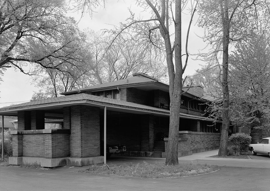 D D Martin House West side elevation and porte cochere HABS NY 15 BUF 5 7