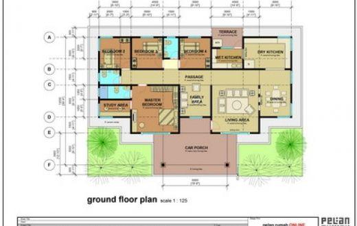 Rumah banglo setingkat 5 bilik · Untuk