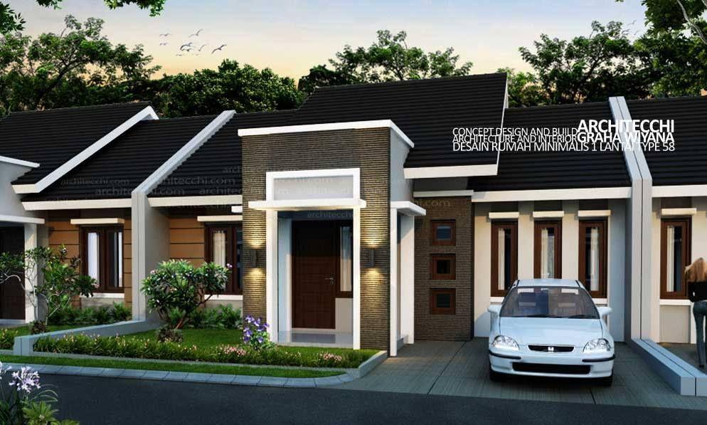 Pelan Rumah Setingkat 3 Bilik Menarik Model Minimalis Modern 1 Lantai 3 Kamar Tidur Google Search