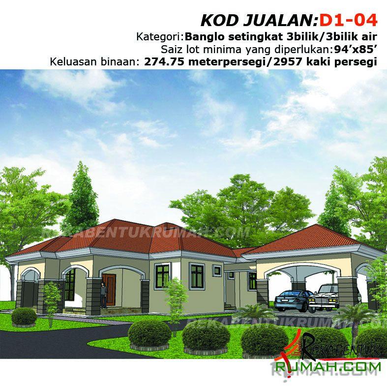 Pelan Rumah Setingkat 4 Bilik 3 Bilik Air Hebat Design Rumah D1 04 3b 3ba 79 X62 2957 Kaki Persegi