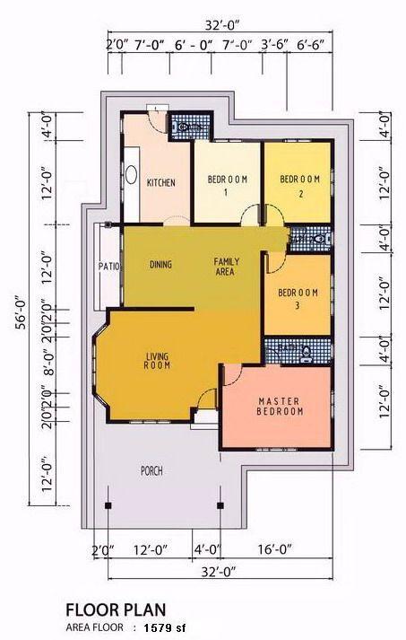 Rumah Teres Setingkat 4bilik Google Search House S Plan