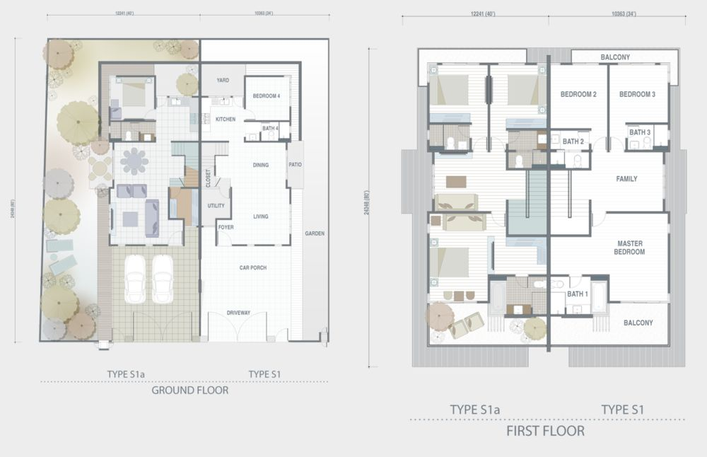 Adda Heights Grey Stones Type 5S1 5S1a Floor Plan