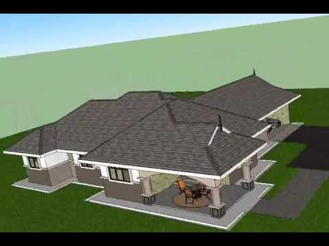 Pelan Rumah Setingkat Meletup Pelan Rumah D1 01 Pelan Rumah Banglo Setingkat 4 Bilik 3 Bilik