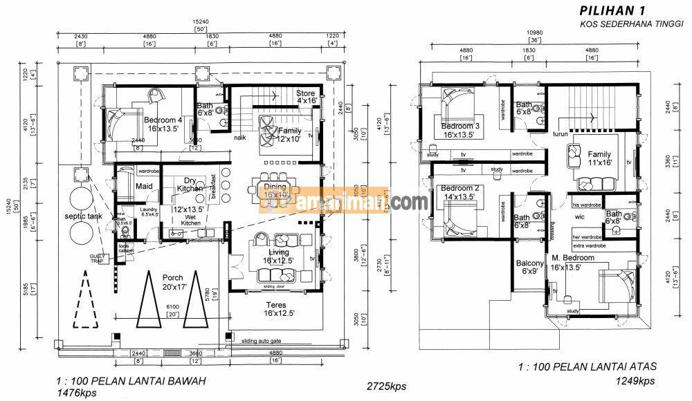 Pelan Rumah Setingkat Setengah Power Plbalikpulau Lot78 1 – Amar Iman Development Sdn Bhd