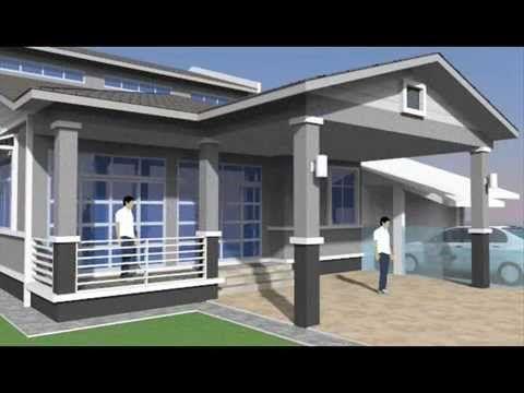 Pelan Rumah Simple Menarik Rekabentuk Ubahsuai Rumah 1 Tingkat Kepada 2 Tingkat Di Seksyen 4