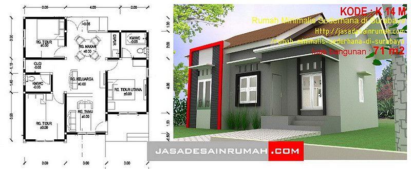 Pelan Rumah Simple Tapi Cantik Menarik Rumah Minimalis Sederhana Di Surabaya Jasa Desain Rumah