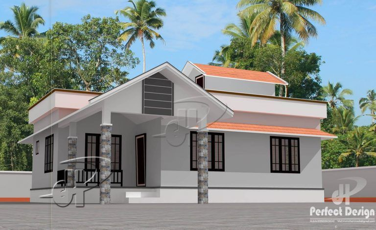 904 Square Feet 2 Bedroom Low Bud Single Floor Home Design and Plan