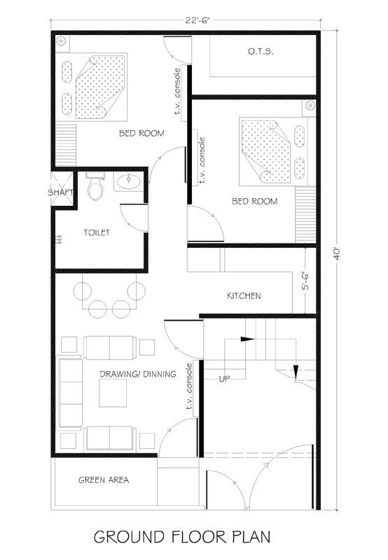 Pelan Rumah Size 30 X 40 Berguna 22 5×40 House Plans for Your Dream Home House Plans