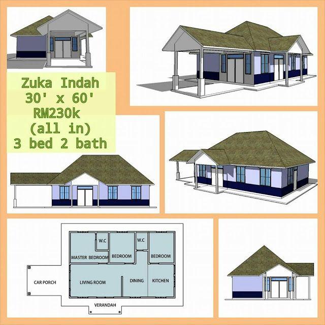 Pelan Rumah Size 30 X 40 Bernilai Banglo Mampu Milik Rm200k Kebawah
