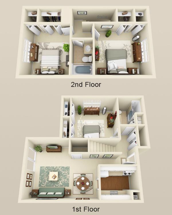 3 Bed 2 Bath Townhome 1550sf Sims 4 House Plans Modern House