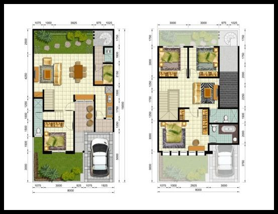 10 denah minimalis 2 lantai type 200 Living Room Upstairs Craftsman House Plans