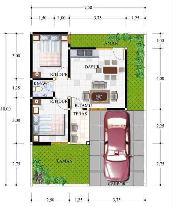 Denah Rumah Minimalis Type 21 60 Desain minimalis type 21 1 & 2 Lantai Sederhana Desain Rumah Kecil Minimalis Type 21 Nyaman