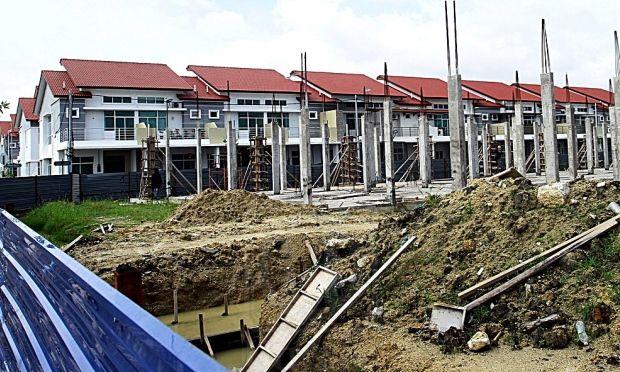 Antara projek pe an mewah yang sedang dibina di kawasan Balik