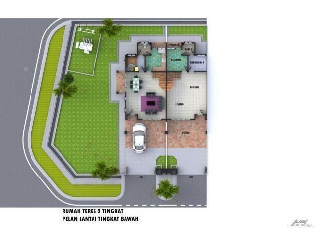Rumah Teres 2 Tingkat Taman Bayu Batu 7 Sijangkang 2 4