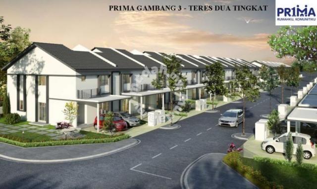 PR1MA Gambang 3 Teres 2 Tingkat Lokasi Bersebelahan UMP Gambang Houses new property in Kuantan Pahang