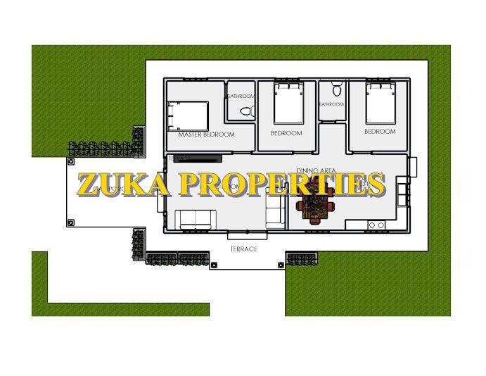 Pelan Rumah Tiga Bilik Bernilai Rumah Zuka Properties Reka Bentuk Zuka