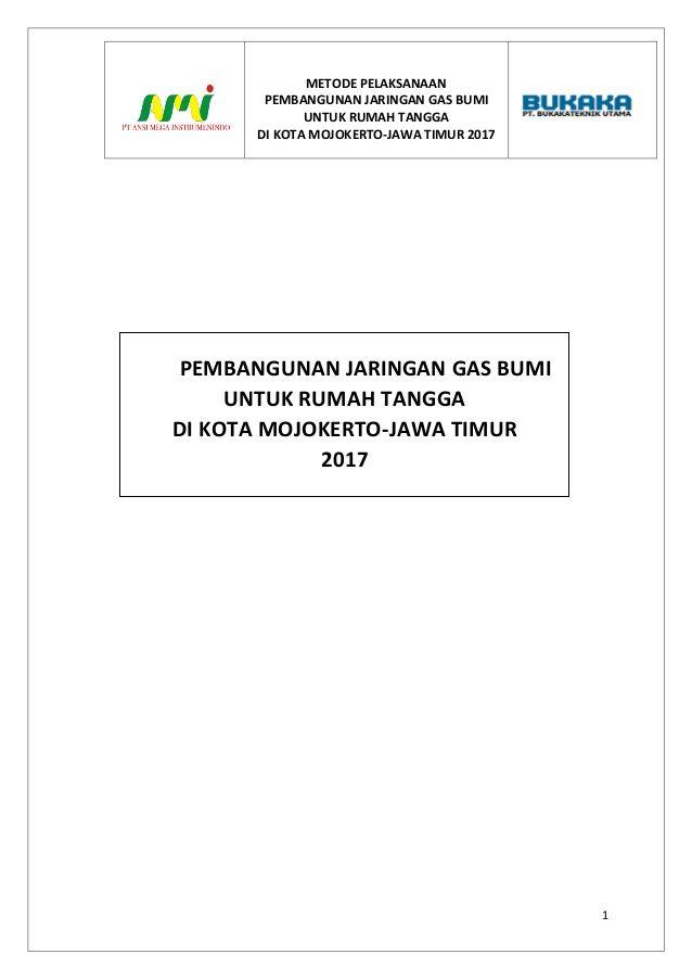 Pelan Tangga Rumah Terhebat Project Execution Plan City Gas Mojokerto East Java