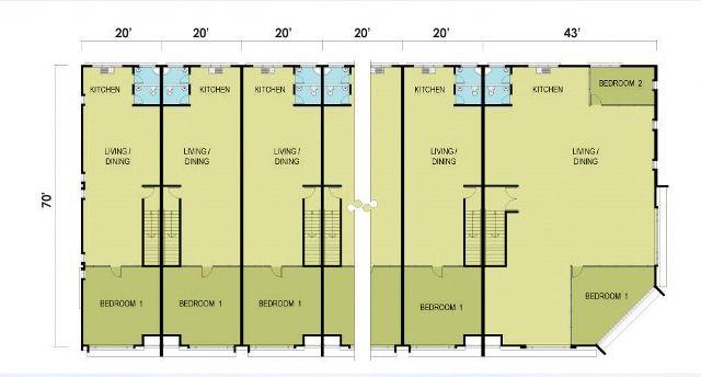 Pelan Tapak Rumah Meletup Taman Batik Double Storey Shop House Floor Plan