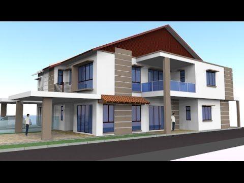 Pelan Ubahsuai Rumah Teres 2 Tingkat Baik Rekabentuk End Lot Di